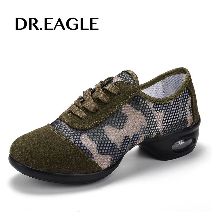 DR.EAGLE Camouflage dancing shoe sneaker For Girls Soft Outsole women jazz dance shoes hip hop womens dance sneakers Plus size #Affiliate