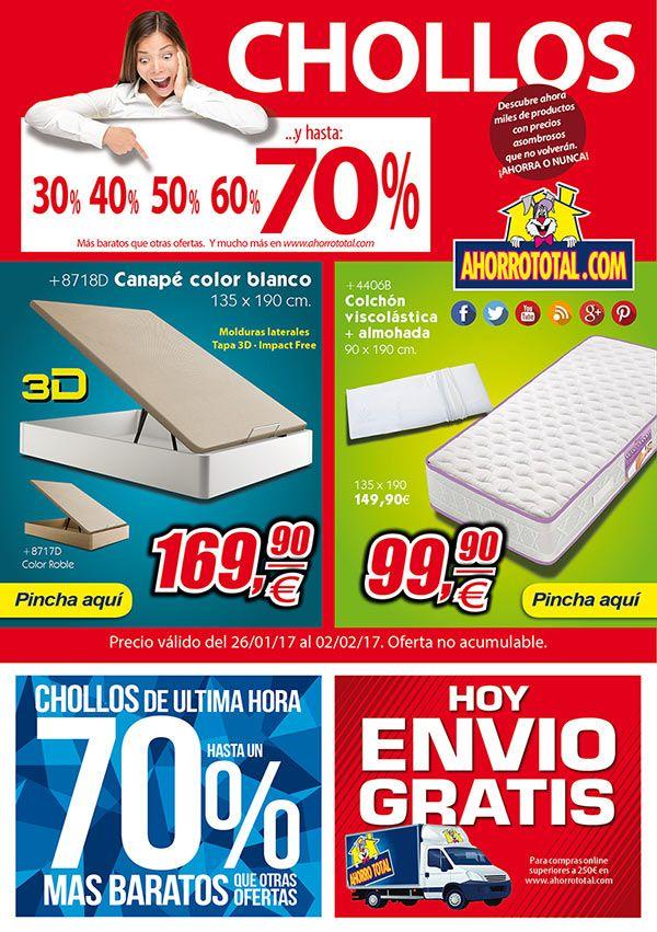 Nuevos CHOLLOS en nuestra tienda online. ¿Te los vas a perder?   http://www.ahorrototal.com/newsletter/at-news-26ene17.html  #muebles #ofertas #chollos #ahorraonunca