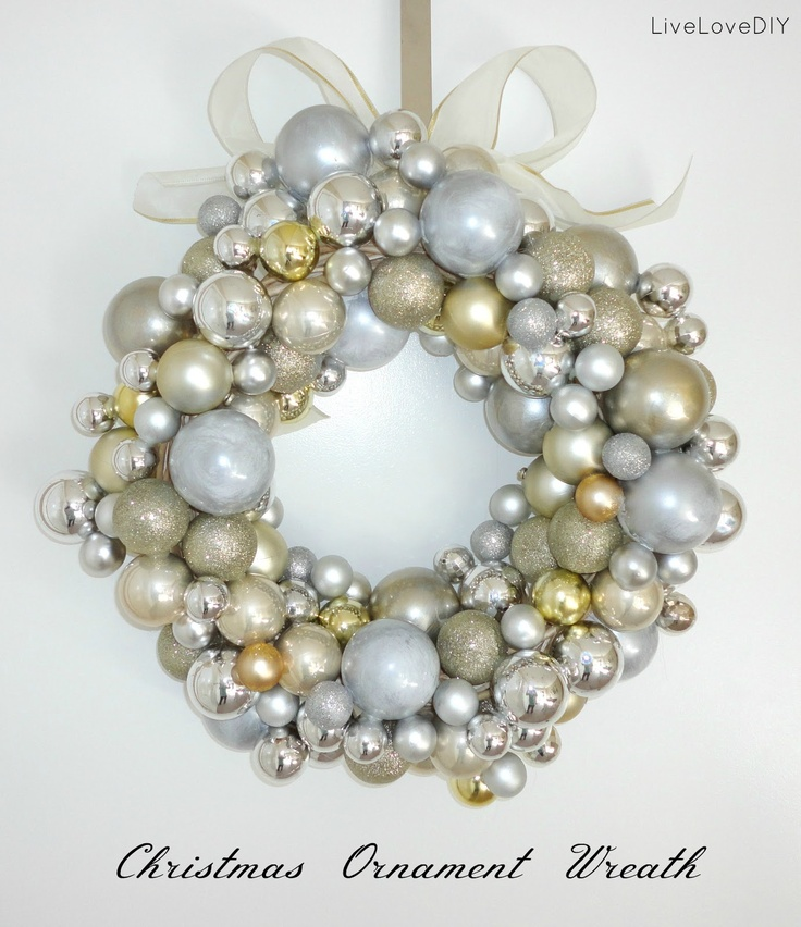 Christmas Ornament Wreath - Only cost $7 and one hour!