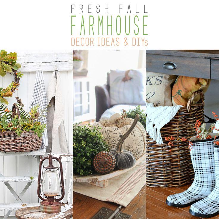 Toll Fresh Fall Farmhouse Decor Ideas And DIYu0027s On Farmhouse Friday