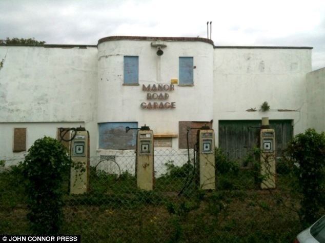 Unloved: The Manor Road Garage was built in the art-deco style in 1934 but it closed in the 1970s and was left abandoned for four decades