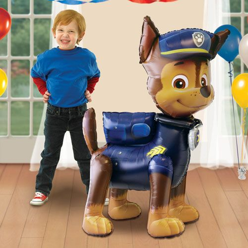 "Paw Patrol Chase Airwalker Foil Balloon 137cm Sold Single Size: 137cm x 93cm / 54"" x 37"" approx Material: Foil Requires Helium Inflation"