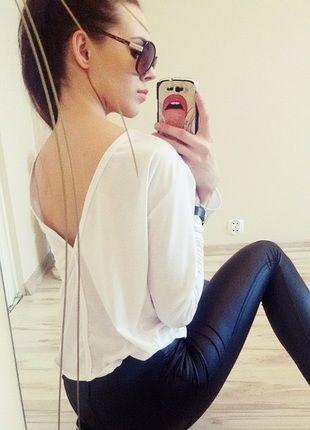 Kup mój przedmiot na #vintedpl http://www.vinted.pl/damska-odziez/bluzki-z-dlugimi-rekawami/12599246-nowa-biala-bluzka-z-odkrytymi-plecami-sexy
