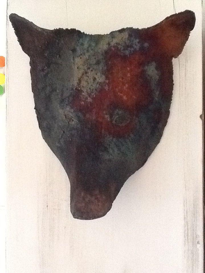 Xmas present for Marcel. A bear masker of raku ceramics