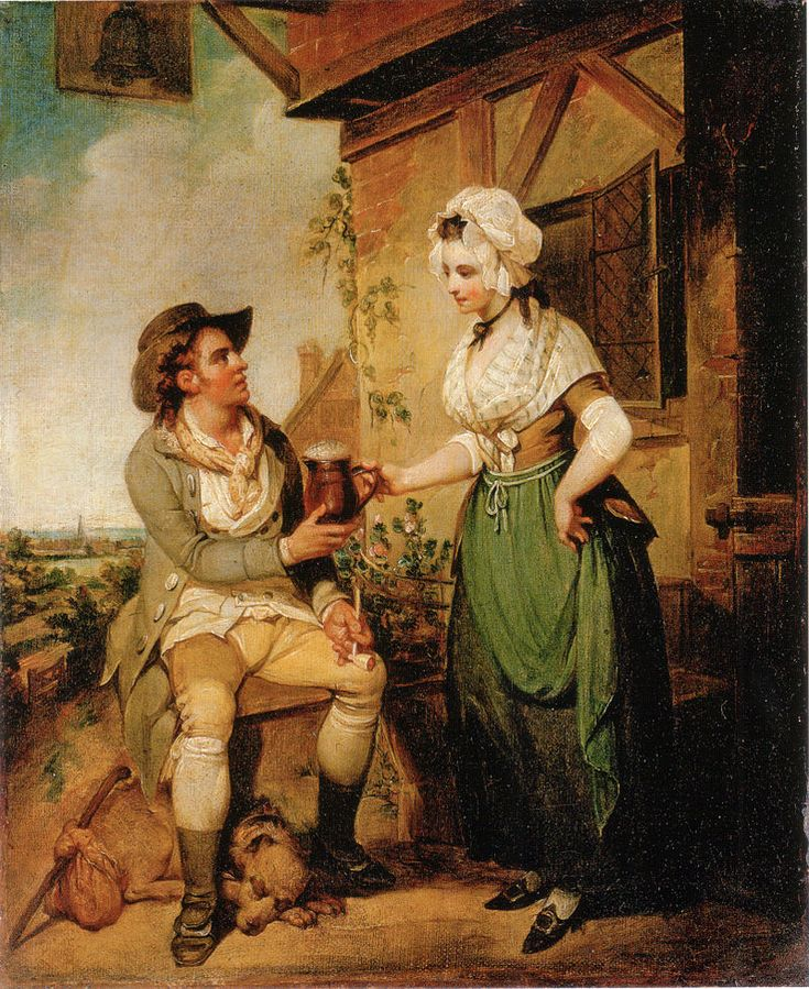 """The Alehouse Door"" by Henry Singleton 1790.  Read all about pubs and their signs on Tea, Toast and Travel."