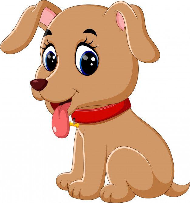 Ilustracion De Dibujos Animados Lindo Perro De Bebe Dibujos De Animales Tiernos Animales Bebes Animados Perros Tiernos Dibujos