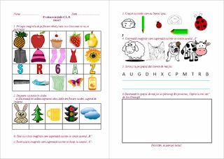 Materiale didactice de 10(zece): Fișă de evaluare inițială C.L.R. - clasa I
