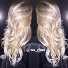 Pearl blonde ombré/balayage. Client says she loves the fact that she can have h…