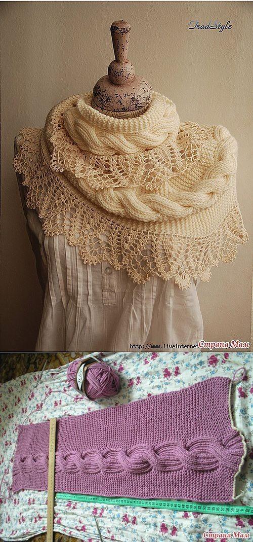 Patronespara los fanáticos del ganchillo,que le permitirá hacer sus propias bufandas. Fotos y gráficos. Modernas y elegantes Bufandas en crochet y tricot.El primer modelo todo hecho en ganch