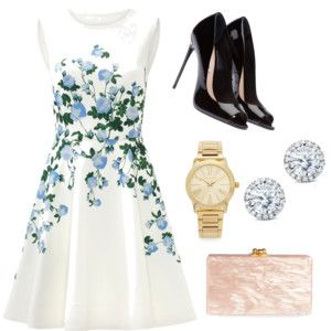Semi formal or formal outdoor party outfit