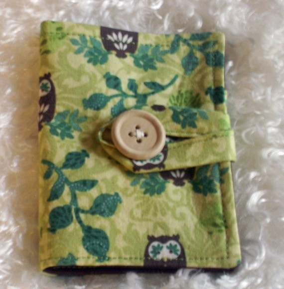 Tea Wallet in Cute Owls cotton print by maceme on Etsy, $10.05
