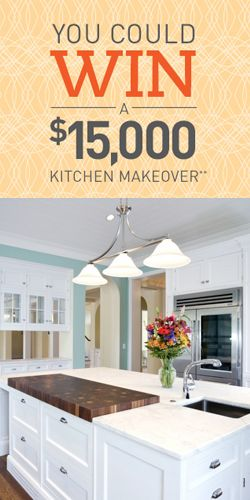 Enter To Win A $15,000 Kitchen Makeover! TERRIFIC GIVEAWAY