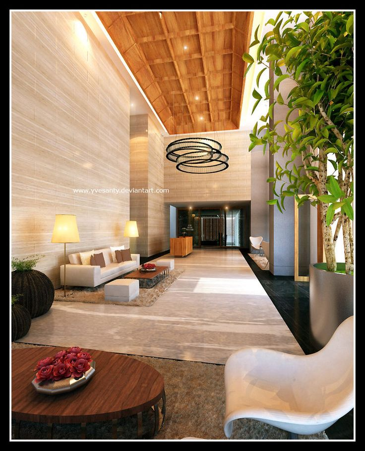 Comfortable Apartment Lobby Interior Design Interior