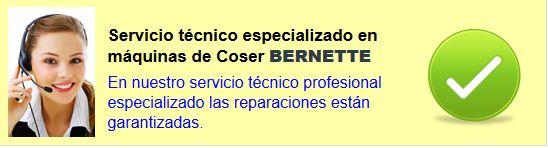 Reparación máquinas de coser Bernette. Servicio en asistecnic. Servicio técnico máquinas de coser Bernette.