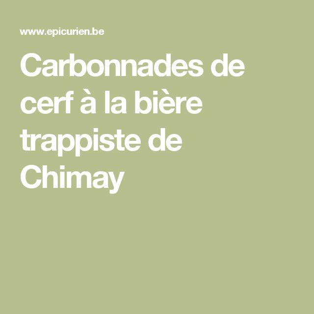 Carbonnades de cerf à la bière trappiste de Chimay