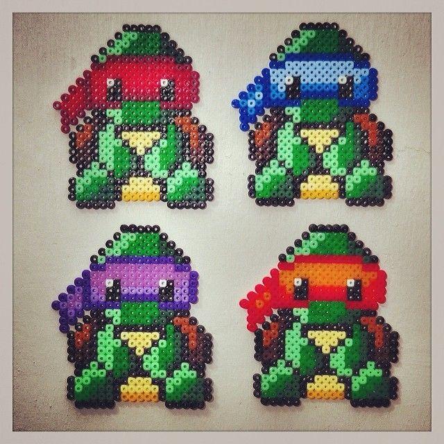 TMNT Ninja Turtles hama beads by heartbytes
