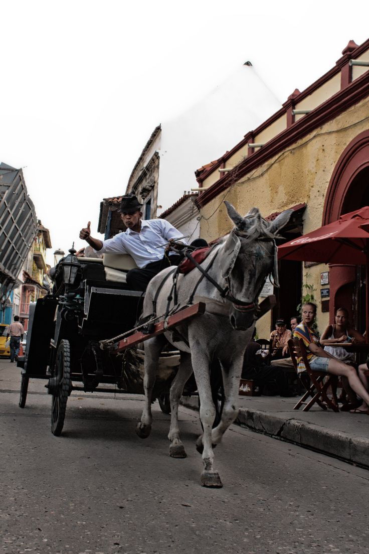 Carruajes en Cartagena. También llamados Victorias.