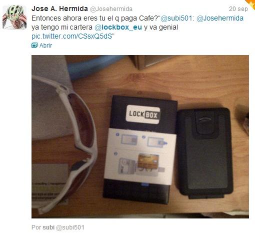 José Antonio #Hermida is a Lockbox heavy user :)