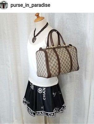 8aff87182780 Vintage Gucci Doctor Boston Duffel Purse Bag GG Monogram Excellent Authentic