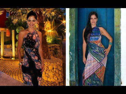 Passo a Passo: Como usar lenços como Vestido Sari by Based On Brasil