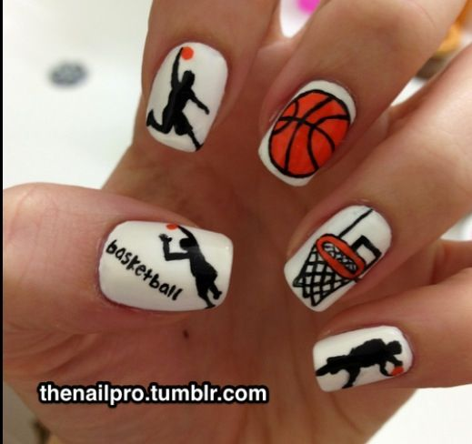 Basketball nails - 27 Best Basketball Nails Images On Pinterest Basketball Nails