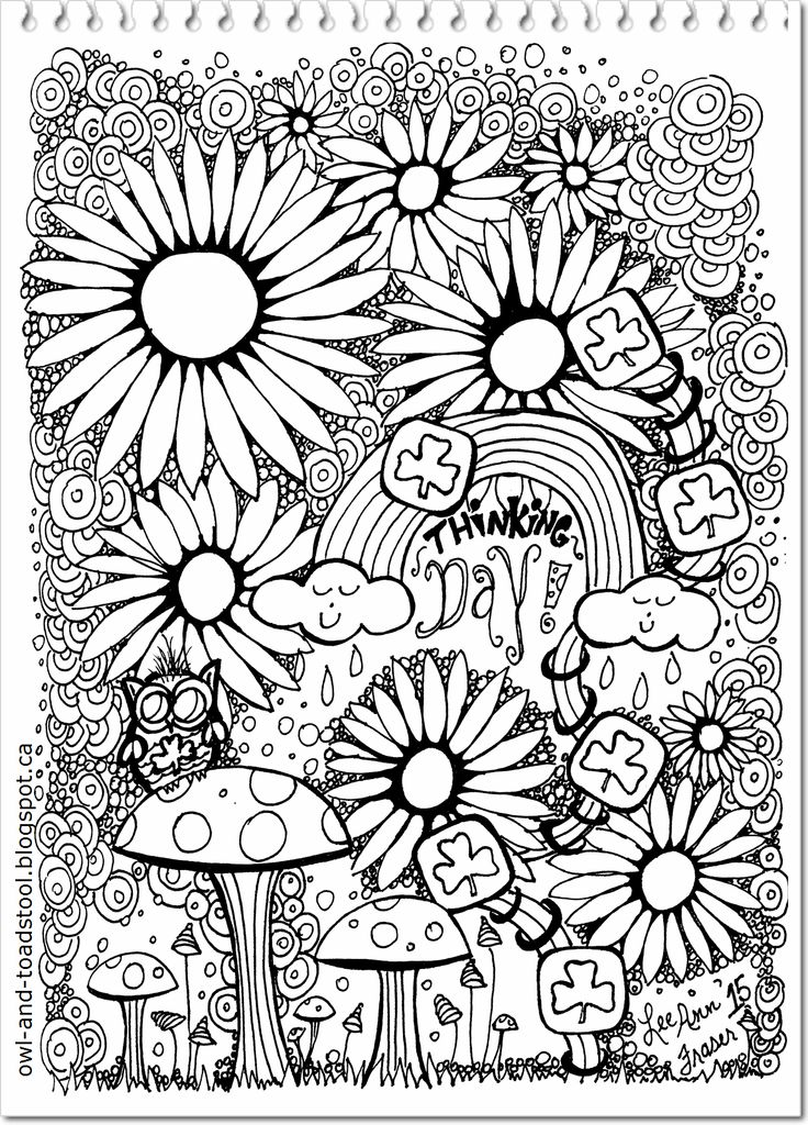 Girl Guide Doodle by Lee Ann 2015 at Owl & Toadstool blog  owl-and-toadstool.blogspot.ca