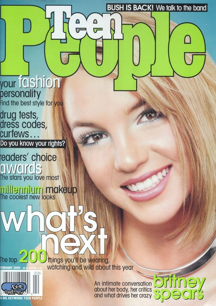 Teen People | February 2000 (Jill Greenberg) I had this magazine!  I remember she was wearing Cover Girl makeup!  Love her bob haircut! :)