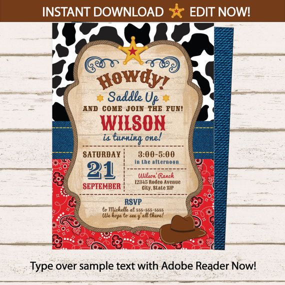 best 25+ western invitations ideas on pinterest | cowboy, Party invitations