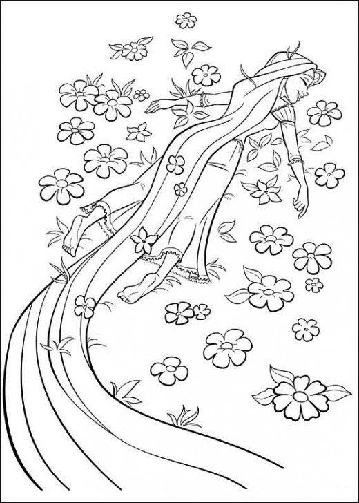 Collection Of Rapunzel Tangled Coloring Pages For Children Great Learning Tools