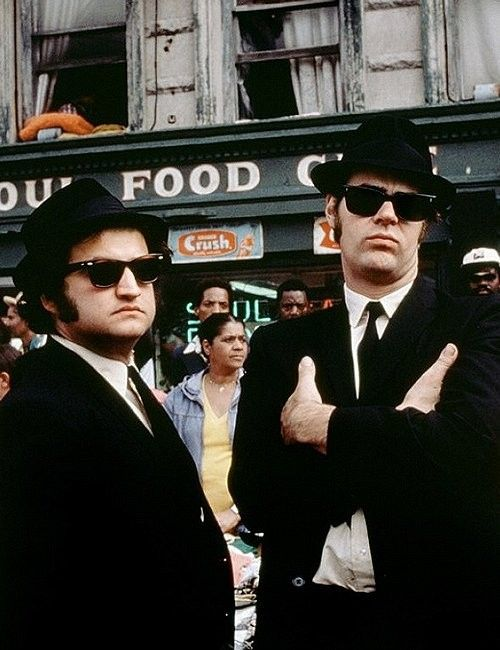 The Blues Brothers...One of my all time favorites!  Never get tired of watching this! * This, I believe, has been the most pinned of all my pins!  Jake and Elroy!  Priceless!