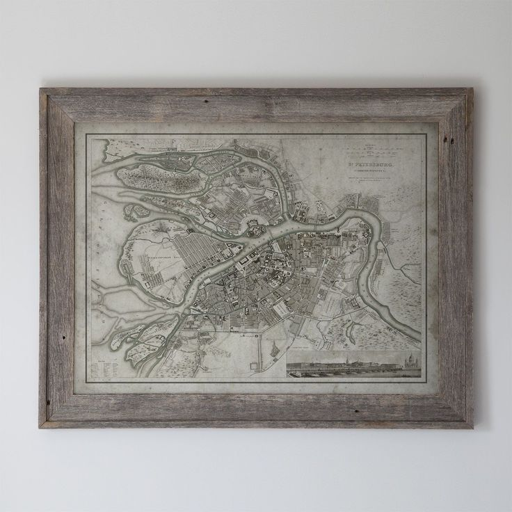 World Map Moscow%0A Moscow Map  Reclaimed Barnwood Frame Circa   th C