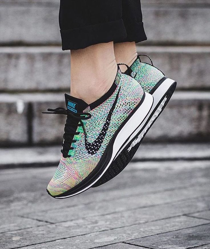 """Summer vibes! The Nike Flyknit Racer """"Multicolor"""" will be making another return on April 7th. It will be released at @titoloshop and other selected retailers. #sneakersmag #nike #nikeflyknitracer #multicolor #release"""