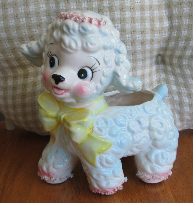 Vintage Samson Import Co 1961 Ceramic Lamb Sheep Baby