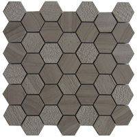 Bestview Athena Trinity 12-in x 12-in Natural Stone Mosaic Wall Tile 5-Pack