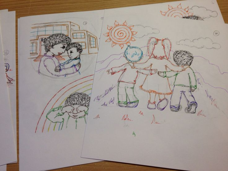 An update on the progress of the second version of The Secret in the Rainbow Children - A Gift of Posivity, for younger readers, and for those that find reading a little tough. All 50 illustrations sketched, and outlined. Colour to be added next...