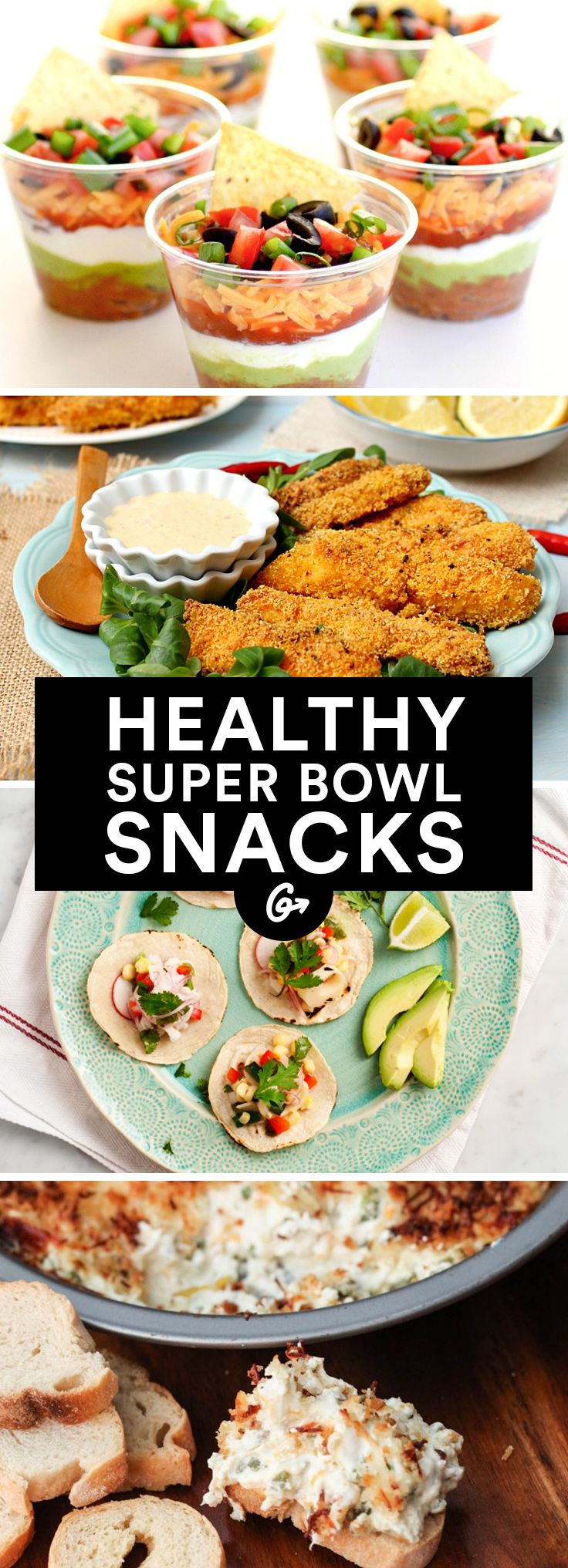 41 Guilt-Free Super Bowl Snacks #healthy #superbowl #recipes http://greatist.com/health/super-bowl-recipes-snacks
