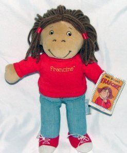 """10"""" Marc Brown's Francine from Arthur Plush Eden"""