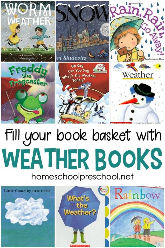 Young learners can learn all about the weather with the books featured in this collection of weather books for preschool and kindergarten. #homeschoolprek #weatherbooksforpreschool #weatherbooks #homeschooling #preschool #picturebooks https://homeschoolpreschool.net/preschool-books-about-weather/