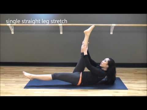 Beginners Pilates workout. She breaks it down for you and you still get a work out. 28 mintues long