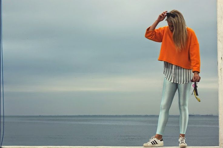 Christina wearing the baby blue PCP leggings #pcpclothing #pcpleggings #pcpinia