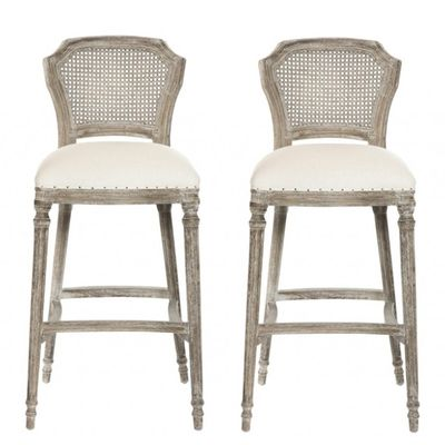 Cane Back Bar Stools Weathered Provence Bar Stools In