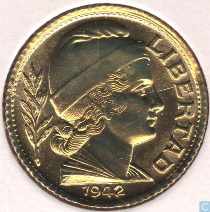 Coins - Argentina - Argentina 10 centavos 1942
