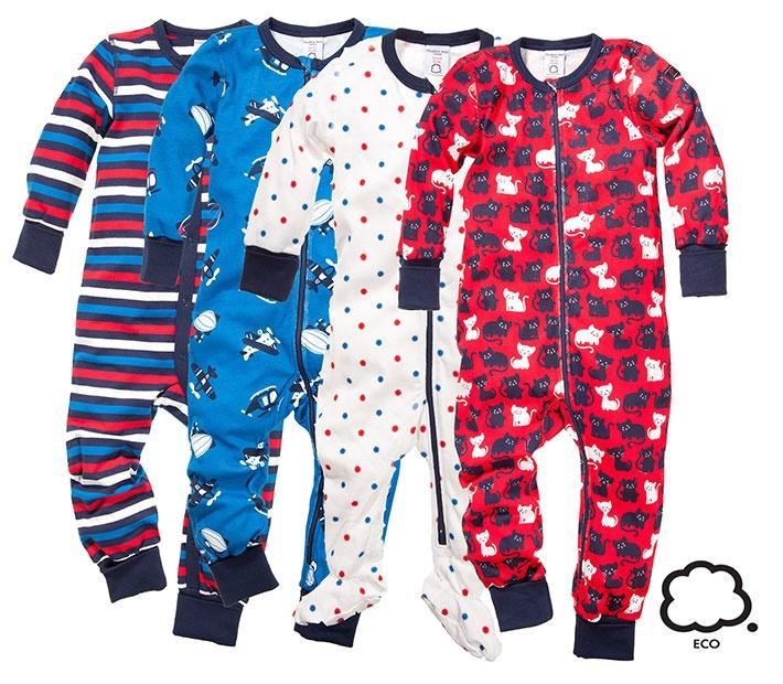Pehmeät pyjamat luomupuuvillasta. 32,90 € - Polarn O. Pyret