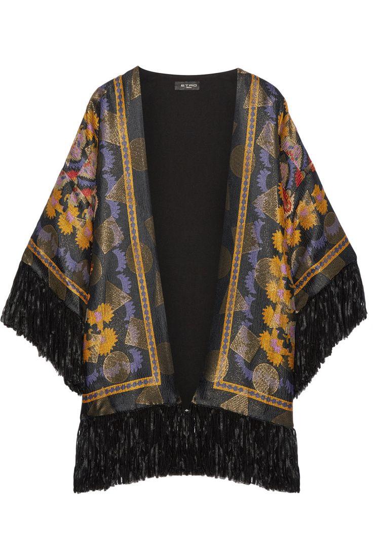 Fleurs Dartifice Floral Print Fringe Kimono | 2018 trends | xoosha