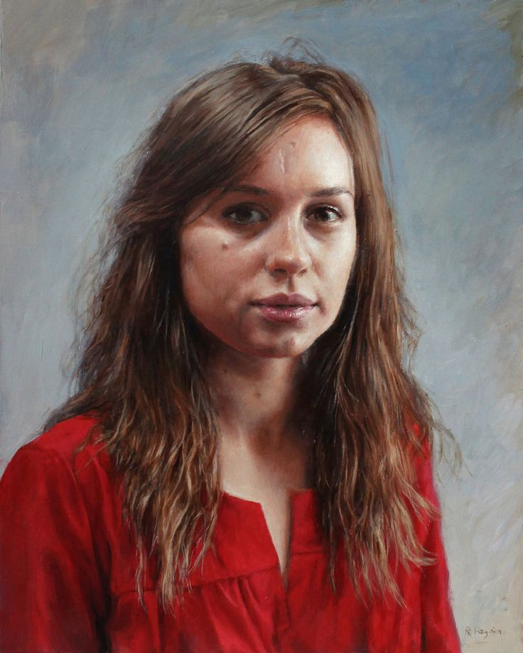 portrait of a woman in red by ranonus