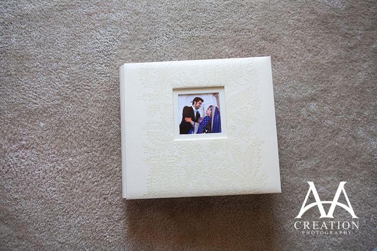 The cover of Adnan and Sana's scrapbook wedding album