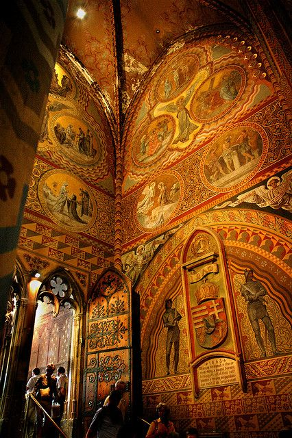 Inside St. Matthias Church in Budapest by indiepepe, via Flickr
