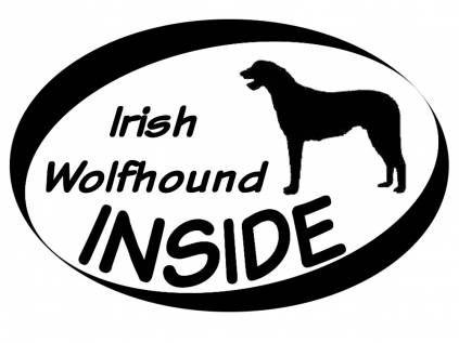 Hund Inside Auto AufkleberInside Aufkleber: Italienisches Windspiel