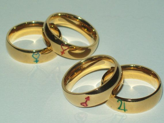 Sailor Moon Rings $5! Engraved and Painted by SculptRenaissance