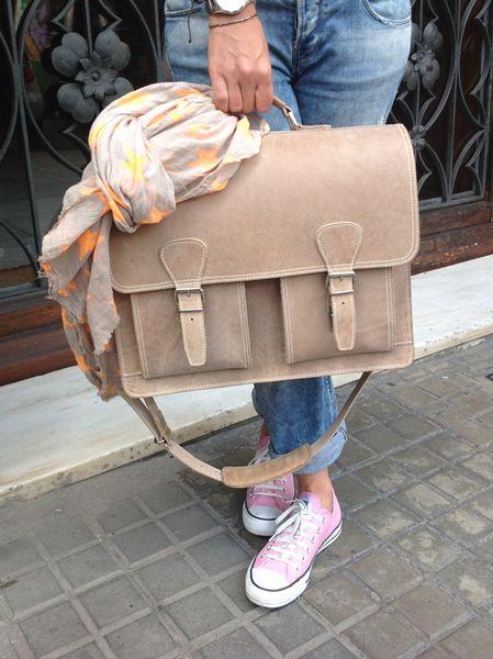 Ledertaschen - Aktentasche Lehrertasche Schultasche Leder - ein Designerstück von Caballito bei DaWanda